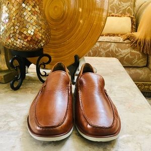 Kenneth Cole Reaction Shoes - Kenneth Cole Reaction Cognac Leather Loafer Men 13